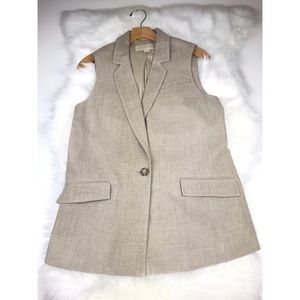 Michael Kors Linen Vest Small